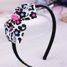 24pcs  Free Shipping 12pcs  Free Shipping Poppy Flower Print Grosgrain Ribbon Woven Headband 1cm ABS headband