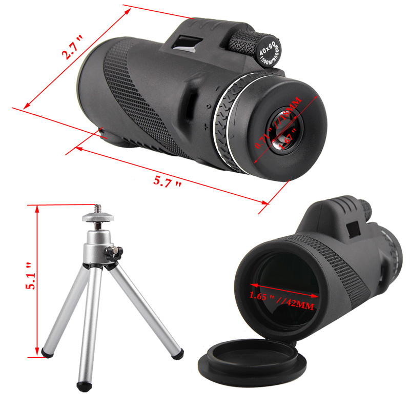 HD 40x60 Monocular High Definition Telescope for Mobilephone Low Light Night Vision RL38-0006-08