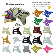 KAISH USA Vintage 8 Holes ST Strat Guitar Pickguard with screws ST Scrach Plate Various Colors Fits for Fender(China)