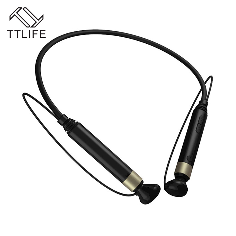 TTLIFE Newest Business NFC Magnetic Bluetooth 4.1 Earphones Wireless Stereo soprts Earbuds support three languages with Mic<br><br>Aliexpress