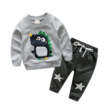 BINIDUCKLING Spring Autumn kids clothes sets children casual 2 pics suit hoodies+pants baby set boys sport suit outwear set(China)