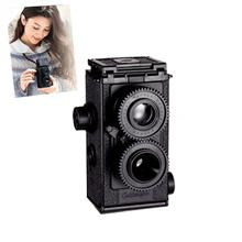 DIY Classic Play Hobby Twin Lens Reflex TLR 35mm Holga for Lomo Camera Kit Outdoor Travel Photograph Black