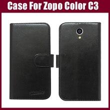 Hot Sale! Zopo Color C3 Case New Arrival 6 Colors High Quality Flip Leather Protective Cover Zopo Color C3 Case