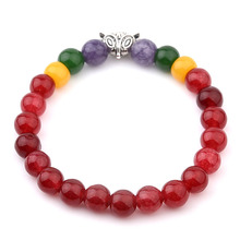 DIY Pulseras Natural Garnet Silver Plated Fox Red Beads Bracelet For Women Girl Bead Chain Bracelet Ethnic Jewelry 2016
