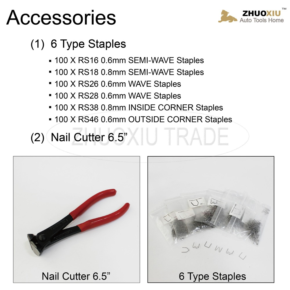 220V/110V Hot Spot Welder Stapler for auto car plastic bumper welding with 600 staples(WS-001)