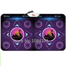 New PC English menu double dance pad Non-Slip Dancing Step Dance Game Mat Pad for PC & TV