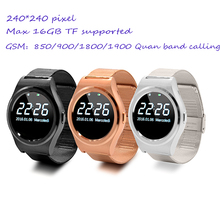 Free shipping cheap steel belt smart watch phone with dialing and answering phone and heart rate monitoring compatilbe both