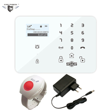 Alarm GSM System Security Home Burglar Alarm China Android APP Controlled Wireless LCD Disply With SOS Panic Button Elderly K9X