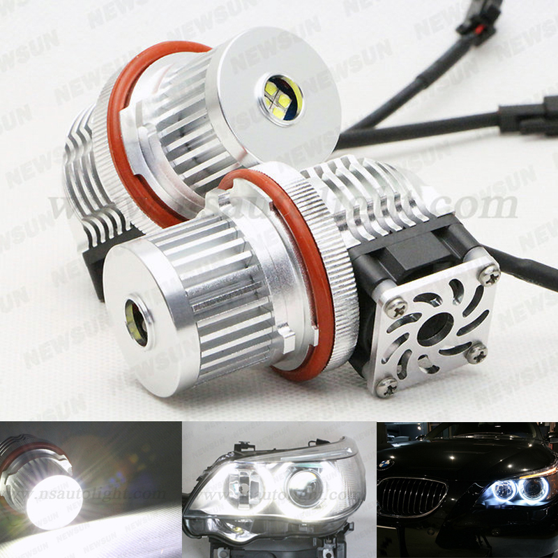 Canbus design 40W 2000LM ultra bright E53 led angel eyes kits led headlight for bmw x5 e53 white led halo ring No flickering<br><br>Aliexpress