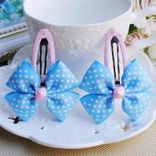 2015 Baby girl's styling tool white dot bow hairpin headwear 2piece hair accessories for women kids make they cute lovely