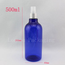 500ml X 10  blue empty plastic Fine mist sprayer pump my bottles 500cc perfume bottle containers with sprayer pump china