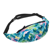 207 Print FANNY PACK BAG Pouch WAIST pack multi-functional pocket Travel waist bag belt Camera bags WOMEN&MEN BAG(China)