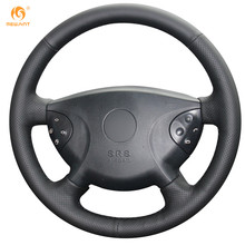 MEWANT Black Artificial Leather Car Steering Wheel Cover for Mercedes Benz W210 E240 E63 E320 E280 2002-2005(China)