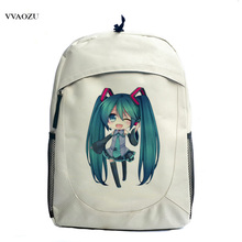 Fashion High Quality Hatsune Miku Backpack Anime Vocaloid Canvas Laptop Student School Bag Free Shipping(China)