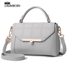 Women Mini Plaid Leather Flap Handbag Woman Alloy Cover HandBags Famous Brand Pure OL Shoulder Bags For Girlfriend Bolso Mujer(China)