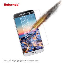 Returnda ultra-thin 9H 2.5D Tempered Glass Film For LG G2 G4 G3 G5 V10 D320 Xcam zero Protective phone Film Screen Protector(China)