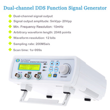 High Precision Digital signal generator 2-channel DDS function generator Arbitrary Waveform Frequency generator 200MSa/s 6MHz