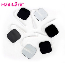 New Massager Patch 20pcs/lot(10 pair) 4*4cm Tens Electrode Pads Pin Type Physical Therapy Massager Electric Digital Machine