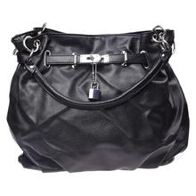 Women Girls PU Leather Hobo Handbag Bag Tote Shoulder Cross Body Black New(China)