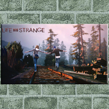 Life is strange walk railway canvas painting pictures on the wall Oil Paintings home decorations posters and prints wall art