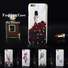 "For iPhone 6 4.7"" iPhone6 Bling Diamond Rhinestone Luxury 3D Painted Case Cell Phone Plastic Hard Cover Case"