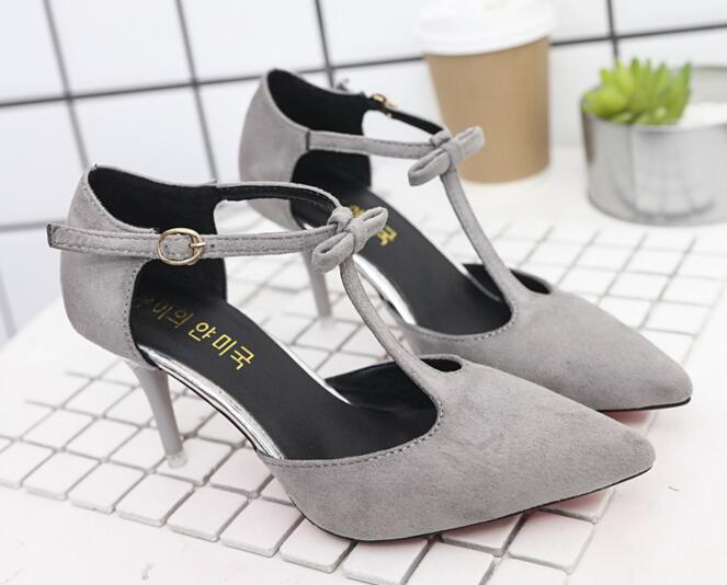 2017 new fashion Pointed Toe Suede High Heels Fashion Sexy High Heel Shoes Women Pumps wedding shoes Pumps Free shipping A15<br><br>Aliexpress