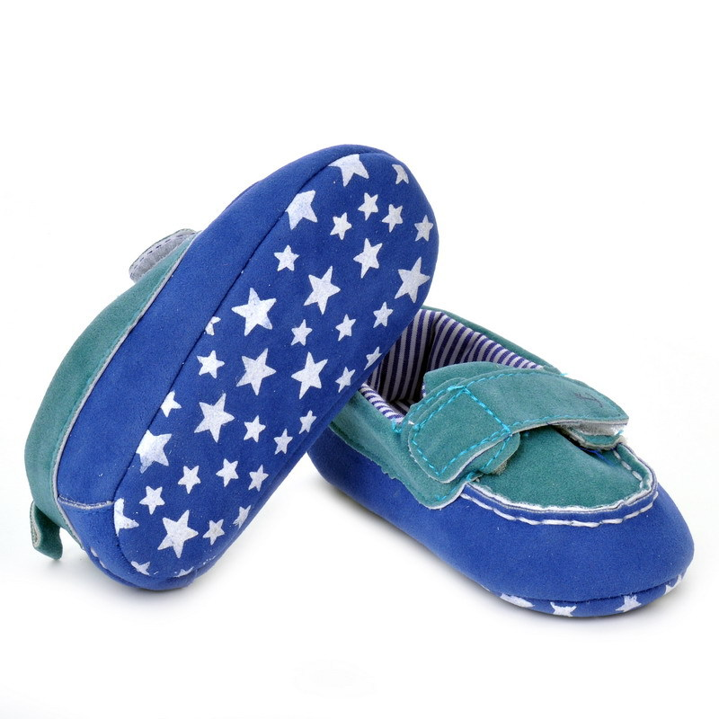 17 Fashion Newborn Baby Girl Boy Shoes Soft Sole Infantil Toddler Baby Boy Sneakers Blue Baby Mocassins Crib Peas Flock Shoes 29