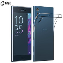 Qosea Case For Sony Xperia XZ Transparent Protect Coque Ultra Slim Slim Silicone Soft Gel TPU For Xperia XZ High Quality Cover