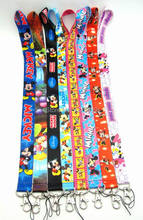 20 PCS Mickey&Minnie Mouse key lanyards id badge holder keychain straps for mobile phone Free Shipping(China)