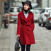 Winter Simple Long Full Sleeve Sheep Wool Wine Red Camel Coats Womens Casaco Feminino Manteau Doudoune Femme Abrigo Mujer Largo