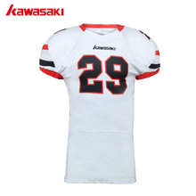 Kawasaki Brand Custom Professional American Football Jersey Mens Sports Top Breathable elastic sleeves Youth Football Shirts(China)