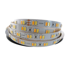 5mX New arrival 112LED/m 5630SMD CCT dimmable LED strip DC24V input 112LED/m color temperature led strip free shipping(China)