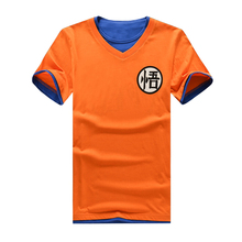 2017 Rushed Summer New Dragon Ball T Shirt Men Funny O-neck Short Sleeve Cotton Japan Anime Clothing Male Lonzo Print Tee Goku