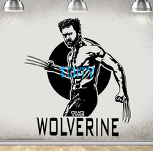 WOLVERINE Decal Film X-MEN Wall Mural Art Movie Poster Sticker H65cm x W58cm(China)