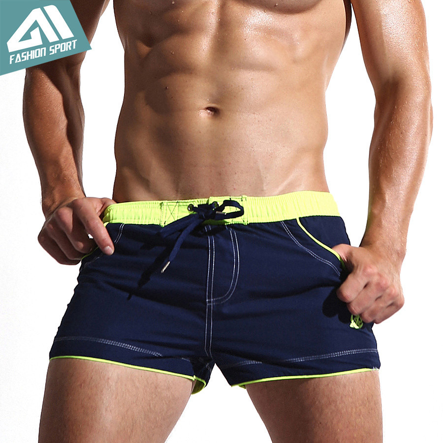 New Mens Swim Shorts Quick Dry Beach Shorts with Lining Liner Sport Summer Mens Board Shorts Surf Swimwear Sea Shorts AC429<br><br>Aliexpress