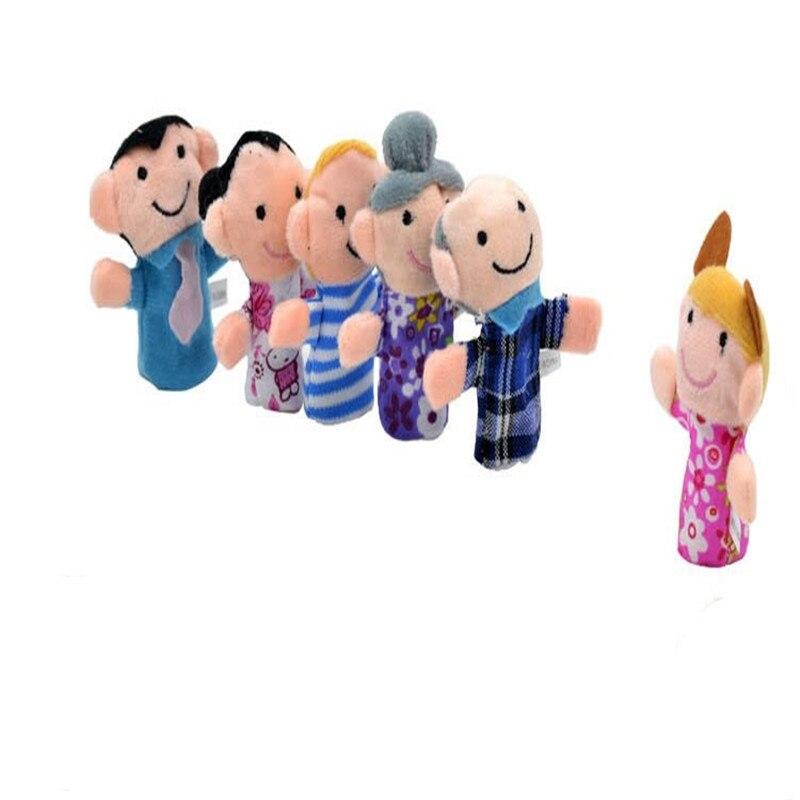 1PC peluche animali marionette da dito bambino doppio strato Storytelling oggetti di scena giocattoli per bambini regalo casuale