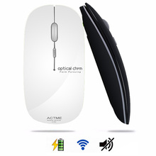 2.4GHz Rechargeable Wireless Mouse Optical Mini Office Portable Mice USB Receiver Ultra-thin Mute Mouse for PC Laptop(China)