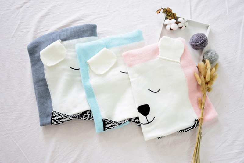 MOTOHOOD Cute Bear Cotton Baby Blankets Newborn Fashion Knitted Muslin Swaddle Wrap Baby Decoration Room Photography Accessories (7)