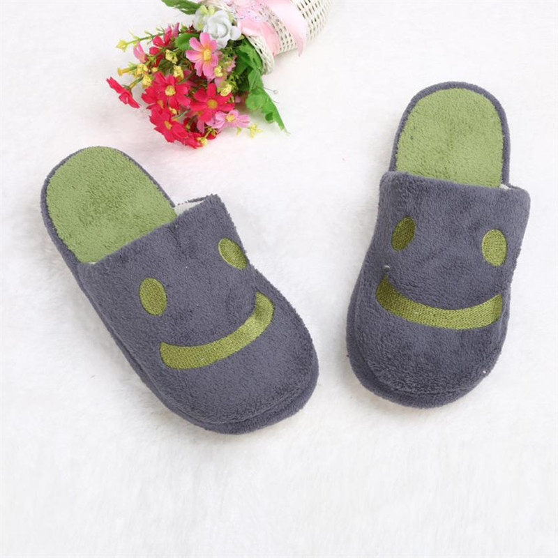 Quality Assurance Smile Home Floor Soft Stripe Slippers Shoes slippers men winter sandalia masculina size 27-29cm Lucky<br><br>Aliexpress