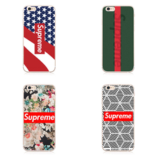 The most popular Supreme case  Phone Cover for iphone6 5s 5  6s plus 7 7 plus Coque brand supreme Flower The highest comic Cover