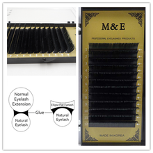 M&E 3 Trays/lot 0.20x0.07mm Thickness Flat Ellipse Eyelashes All Size 3D Soft Thin Eyelash Extensions Flat Mink 3D Lashes(China)