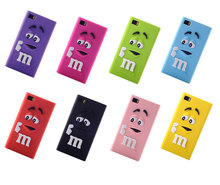 1PCS for Xiaomi 3 m3 Case Covers Soft 3d Silicon Rubber M&M Fragrance Chocolate M Rainbow Beans for mi3 Mobile phone bags shell(China)
