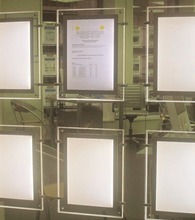 Cable Display System A3 size LED Acrylic Frame Pocket light box great for Real Estate Windows(China)