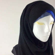 High Quality Cotton Plain Viscose Scarf Ripples Wrinkle Cape Shawls And Scarves Muslim Hijab Wraps Women Scarves 2017