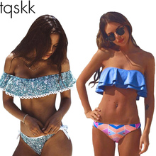 Bikinis Women Swimsuit Push Up Swimwear Women 2017 New Sexy Bandeau Print Brazilian Bikini Set Beach Wear Bathing Suits Biquini