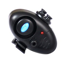 Black small MINI Electronic Wireless ABS Fish Bite Alarm Sound Running LED Sensitive Mat Outdoor