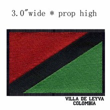 "Villa de Leyva, Colombia Flag 3""wide  embroidery patch  for for clothes/2016 color rush jerseys/michigan football"