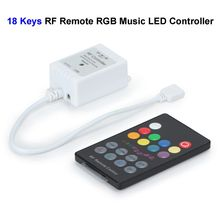 50pcs 12V 28 Keys RGB Music LED Controller Sound Sensor With RF Remote Control For SMD 3528 5050 RGB LED Rigid Strip