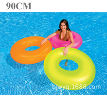 5962 intex pvc inflatable swim ring band 90cm diameter 0.23mm swimming pool water play toy beach summer floating B41012(China)