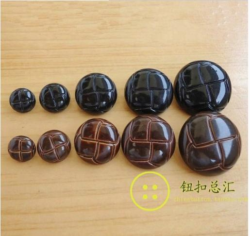 Online Buy Wholesale brown leather buttons from China brown ...